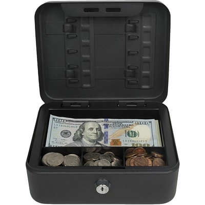 Royal Sovereign Compact Cash Box with Security Lock (RSCB-100)