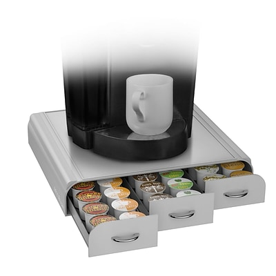 Mind Reader Anchor Coffee Pod Storage Drawer For 36 K Cup, Silver/Gray
