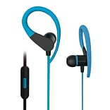 Sport2 Wired Stereo Over Ear In Ear Noise Isolating Sweatproof Headphones Earbuds - Blue