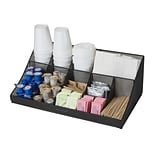 Mind Reader Pioneer 11 Compartment Breakroom Coffee Condiment Organizer, Black Mesh, (COMORGMESH-B