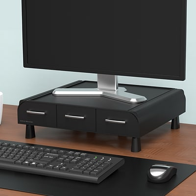 Mind Reader  Perch PC, Laptop, IMAC Monitor Stand & Desk Organizer, Black (MONSTA3D-BLK)