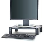 Mind Reader Guide Adjustable Plastic Monitor/Laptop Stand, Black (PLMONST-BLK)