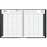 2018 AT-A-GLANCE® 8 Person Daily Appointment Book/Planner, 8 1/2x11, Black (70-212-78-18)