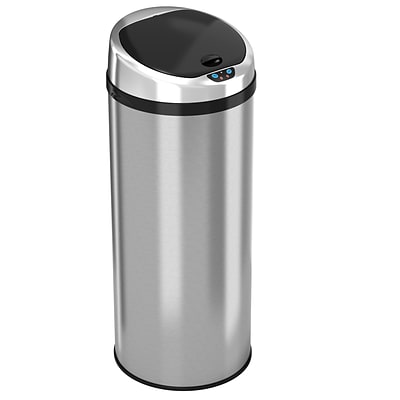 iTouchless Automatic Stainless Steel Touchless Trash Can®, 13 gal (IT13RCB)