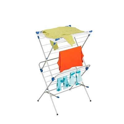 Honey Can Do Foldable Drying Rack with Mesh Top, 2 Tiers (DRY-01104)