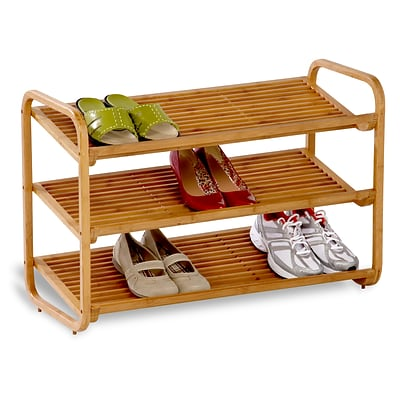 Honey Can Do 3-Tier Bamboo Shoe Rack Organizer (SHO-01599)