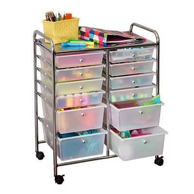 Honey Can Do Rolling Storage Cart And Organizer With 12 Plastic Drawers Crt 01683