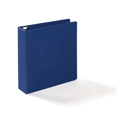 Quill Brand® Heavy-Duty D-Ring Reference Binder w/ Easy-Open, 2, Blue