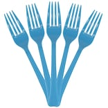 JAM Paper® Premium Utensils Party Pack, Plastic Forks, Bright Blue, 48 Disposable Forks/Pack (297F48