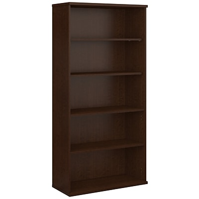Bush Business Westfield Elite 36W 5 Shelf Bookcase, Mocha Cherry