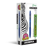 Zebra Pen Z-Grip Retractable Ballpoint Pens, Medium Point (1.0mm), Blue, Dozen (ZEB 22220)