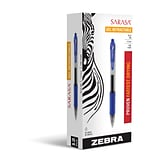 Zebra Pen Sarasa Rapid Dry Ink Retractable Gel Pens, Fine Point (0.5mm), Blue, Dozen (ZEB 46720)