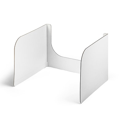 Classroom Products Privacy Shield 13 Inch Tall Wwindow White