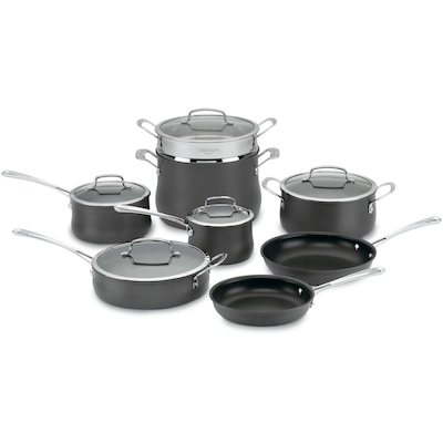 Contour Hard Anodized Non Stick 13 Piece Cookware Set (6413)
