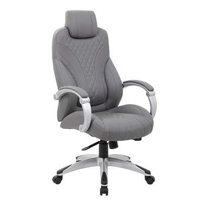 Boss Executive Hinged Arm Chair, Grey (B8871GY)