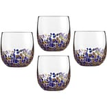 4-Piece Double Old Fashioned Glassware Set in Blue/Gold (CGS4DOFBG)