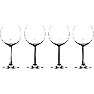 The Stars The Limit Stemware Collection, 4 Burgundy Glasses (CG01S4BU)