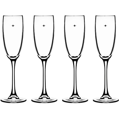 The Stars The Limit Stemware Collection, 4 Champagne Flutes (CG01S4CF)