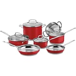 Chefs® Classic Stainless Color 11-Piece Cookware Set (CSS11MR)