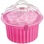 Cupcake-Shaped Cupcake Carrier (24 Cupcakes), Pink/Clear (CTG00CCSP)