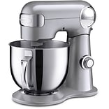 5.5-Qt. Tilt-Back Head Stand Mixer with 1 Power Outlet in Brushed Chrome (SM50BC)
