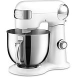 5.5-Qt. Tilt-Back Head Stand Mixer with 1 Power Outlet in White (SM50)