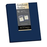 Southworth Certificate Holders, 9.5 x 12, 105 lb., Linen Finish, Navy, 10/Pack (PF8)