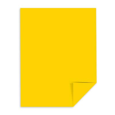 Astrobrights Color Cardstock, 8.5 x 11, 65 lb./176 gsm, Solar Yellow, 250 Sheets/Pack (22731)