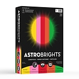 Astrobrights Colored Cardstock, 8.5 x 11, 65 lb./176 gsm, Vintage 5-Color Assortment, 250 Sheets