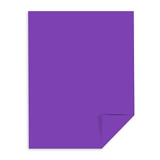 Astrobrights Colored Cardstock, 8.5 x 11, 65 lbs/176 gsm, Gravity Grape, 250 Sheets/Pack (21971)