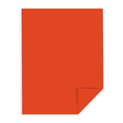 Astrobrights Colored Cardstock, 8.5 x 11, 65 lb./176 gsm, Orbit Orange, 250 Sheets/Pack (22761)