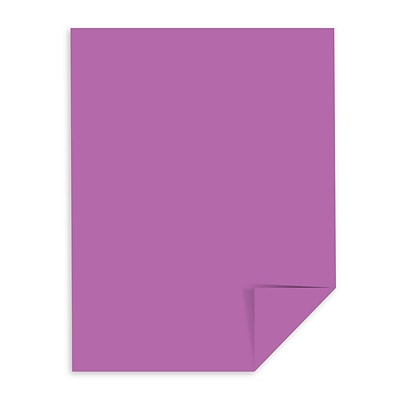 Astrobrights Colored Cardstock, 8.5 x 11, 65 lb./176 gsm, Planetary Purple, 250 Sheets/Pack (22871)