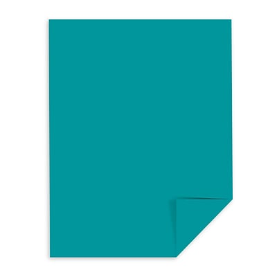 Astrobrights Colored Cardstock, 8.5 x 11, 65 lb./176 gsm, Terrestrial Teal, 250 Sheets/Pack (21855 / 22109)