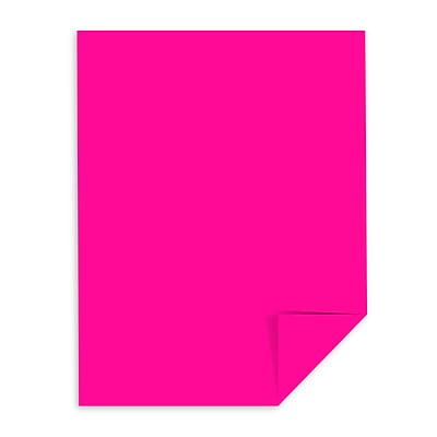 Astrobrights Colored Cardstock, 8.5 x 11, 65 lb./176 gsm, Fireball Fuchsia, 250 Sheets/Pack (22881)