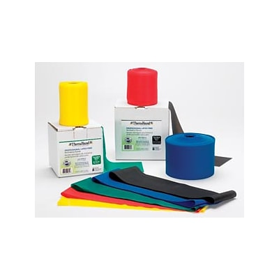 Hygienic/Theraband Resistance Band, Black/ Special Heavy, 25 Yd. Dispenser Box, Latex Free, 12/Case (20364)