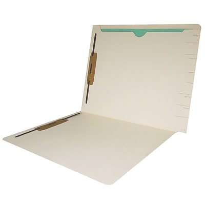 Medical Arts Press® End-Tab Confidential File Folders with Full Back Pocket, 2-Fasteners, Letter, Manila, 50/Bx (31315)