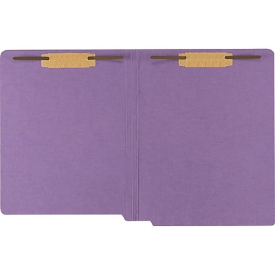 Medical Arts Press® Heavy-Duty Colored End-Tab Folders; 20 pt., 2 Fasteners, Straight Cut, Letter Size, 40/BX