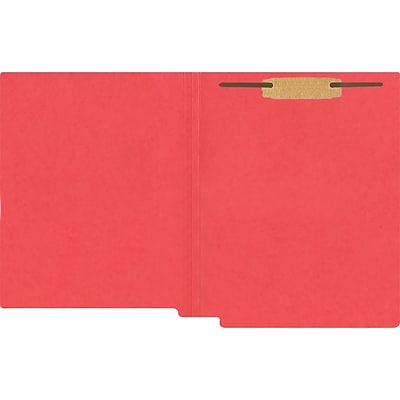 Medical Arts Press® Heavy-Duty Colored End-Tab Folders; 20 pt., 1 Fastener, Straight Cut, Letter Size, 40/BX