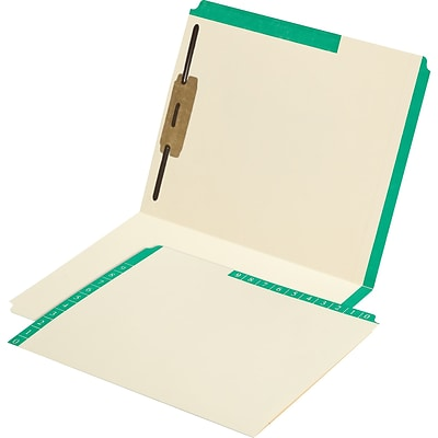 Medical Arts Press® Smead® Compatible Color-Coded Combination Folders, Position 1 Fastener, 50/Box