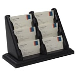 Wooden Mallet 6 Pocket Countertop Business Card Holder, Black (BCC26BK)