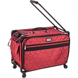 TUTTO Machine On Wheels Case-23X15X12 Red W/Dotted Circles
