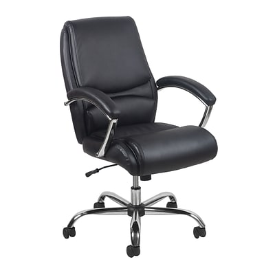 Essentials by OFM Fabric Computer and Desk Office Chair, Fixed Arms, Black (ESS-6070-BLK)