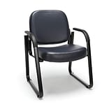 OFM Guest and Reception Chair with Arms, Anti-Microbial/Anti-Bacterial Vinyl, Navy (403-VAM-605)