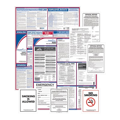 ComplyRight Federal (Bilingual), State & Public Sector (English) Poster Set - Oregon