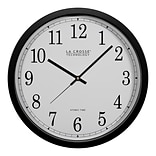 La Crosse Technology 14 Inch Atomic Analog Wall Clock, Black (WT-3143A)