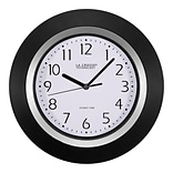 La Crosse Technology 10 Inch Analog Atomic Black Wall clock (404-1225)