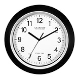 La Crosse Technology 13.5 Inch Analog Atomic Black Wall clock (404-1236)