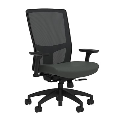 Workplace2.0™ 500 Series Fabric Task Chair, Iron Ore, Integrated Lumbar, 2D Arms, Synchro Seat Slide