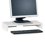 Way Basics 19.7W Simple Computer Monitor Stand, White