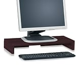 Way Basics 19.7W Simple Computer Monitor Stand, Espresso Wood Grain